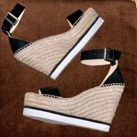 aa0246ae1e3 Chloe Glyn Platform Wedge Espadrille Sandals NWT